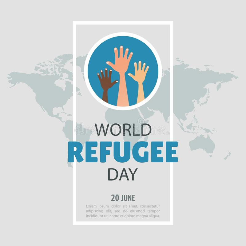 D?a de refugiado de mundo stock de ilustración