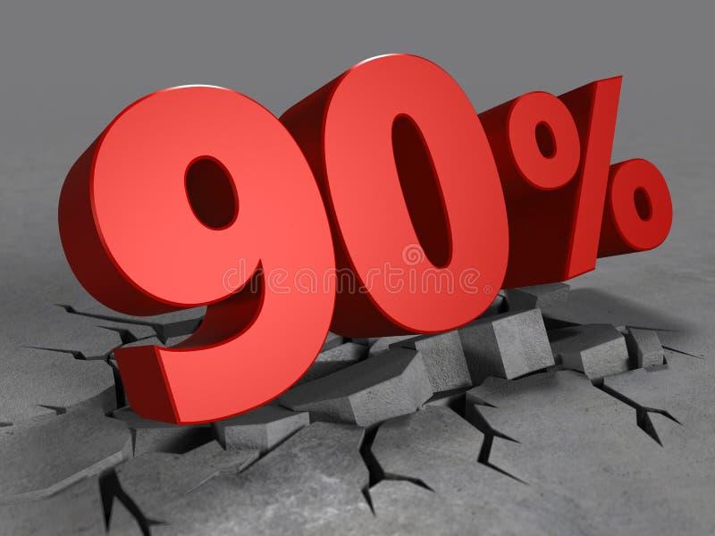 3d de remise de 90 pour cent illustration libre de droits