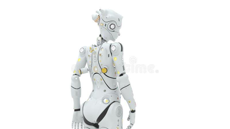 3d de robots van FI van technologiesai geven terug royalty-vrije illustratie