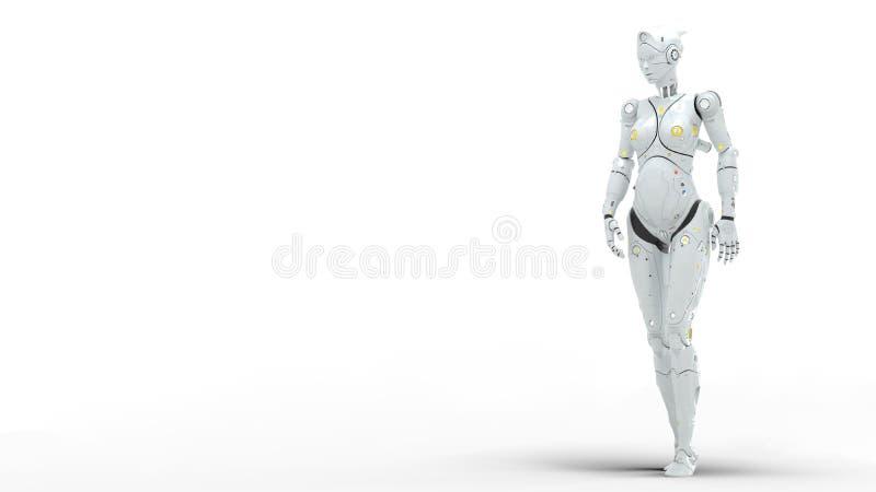 3d de robots van Saifi geven terug royalty-vrije illustratie