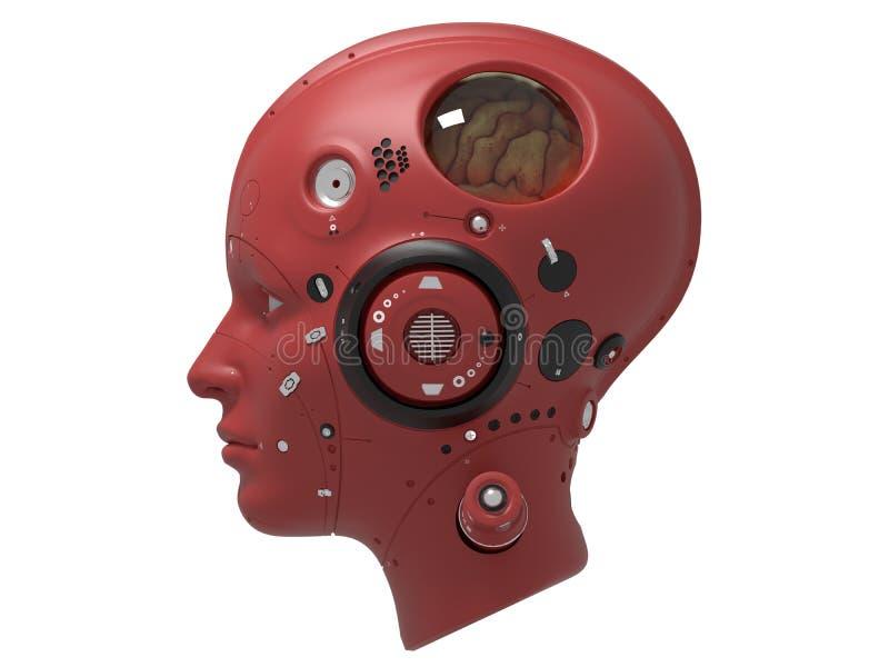 3d de robots van saifi van de technologierobot geven terug stock illustratie