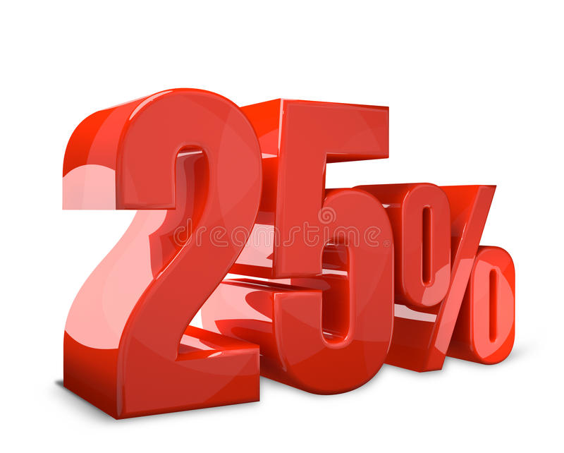 25% 3d de verkoop geeft gewaagde verkoop terug royalty-vrije illustratie