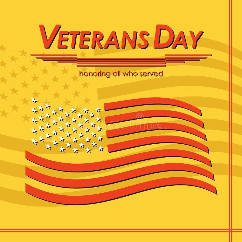 D?a de veteranos Honrando a todos que sirvieron Ilustraci?n del vector libre illustration