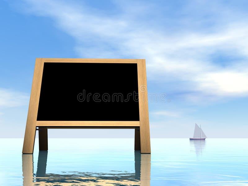 3D de zomerbord - geef terug stock illustratie
