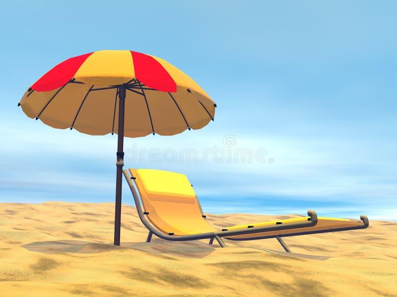 3D de zomerontspanning - geef terug royalty-vrije illustratie