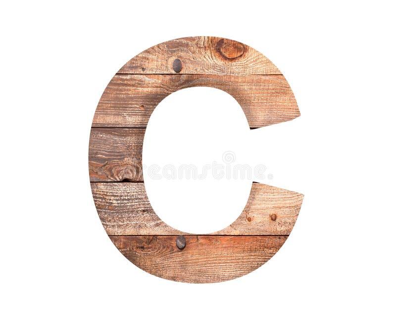 3D decoratief houten Alfabet, hoofdletter C stock foto