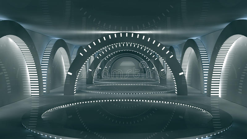 Futuristic interior royalty free illustration