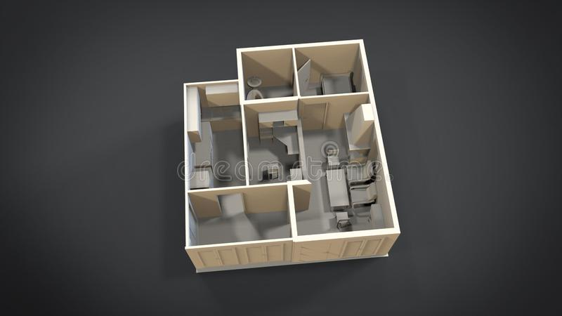 House Isolated 3d Stock Illustration Illustration Of Home