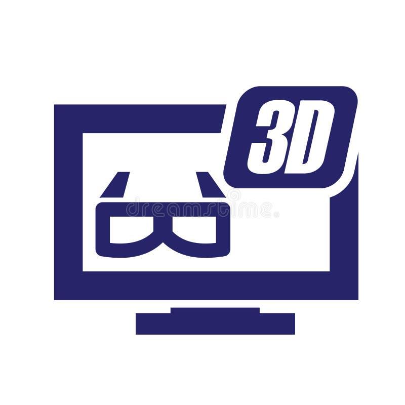 3D Desktop Glass Simpel Логотип Icon Vector Iluстрация бесплатная иллюстрация