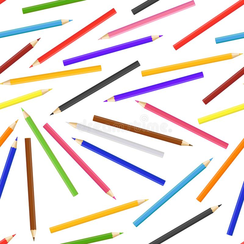 3d detalhados realísticos coloridos escrevem o fundo sem emenda do teste padrão Vetor ilustração stock