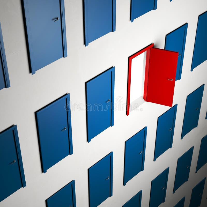 3d deuren vector illustratie