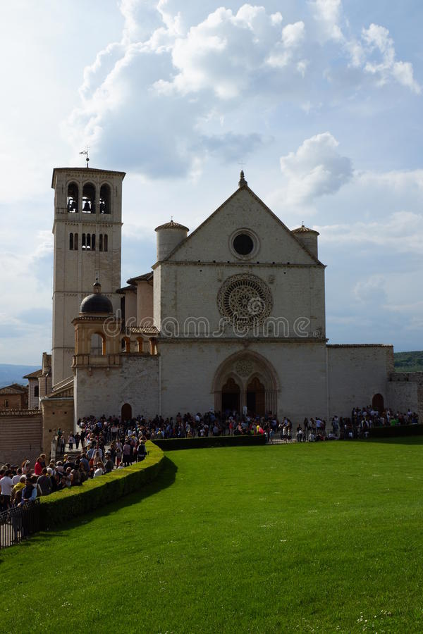 D& x27 di Basilica di San Francesco; Assisi, basilica di St Francis di Assisi fotografia stock