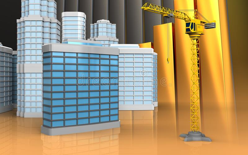 3d di costruzione generica illustrazione vettoriale