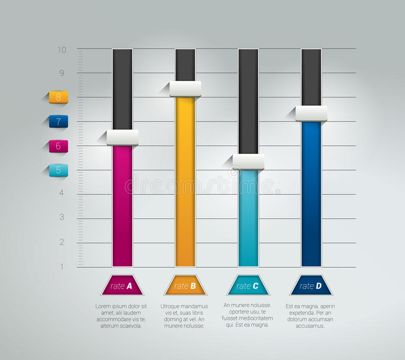 3D diagram, graf stock illustrationer