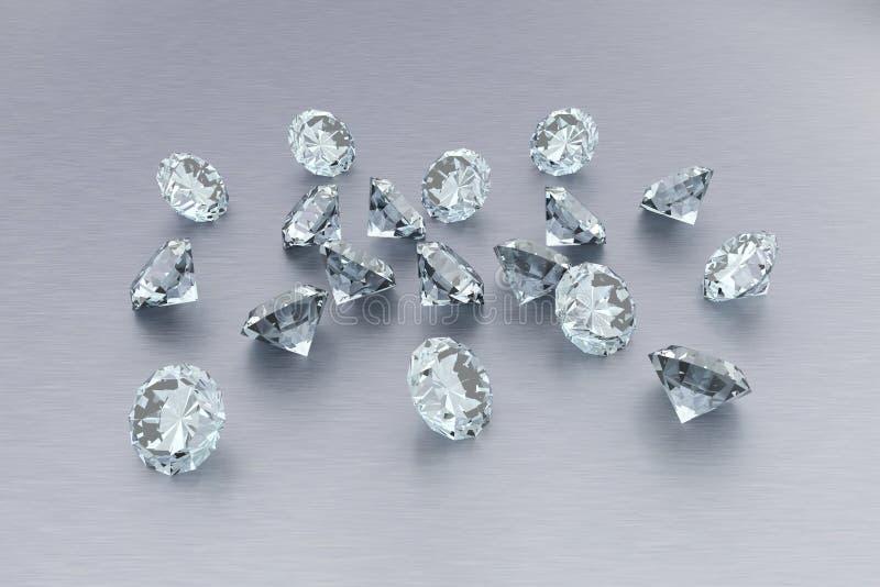3D Diamanten royalty-vrije illustratie