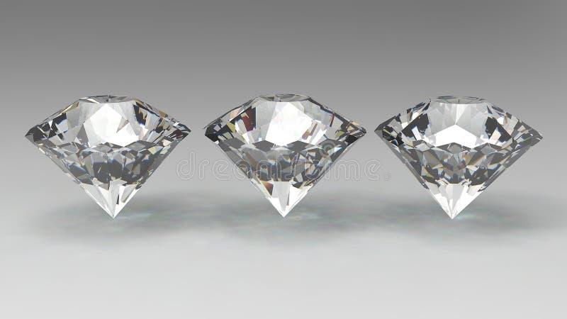 3D diamanten geven terug vector illustratie