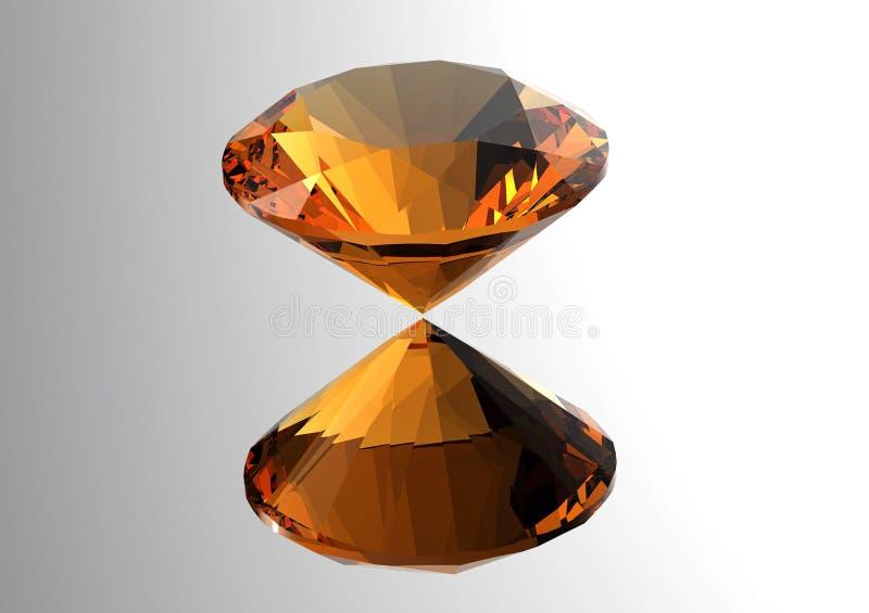 3D diamanten geven terug Juwelenhalfedelsteen stock illustratie