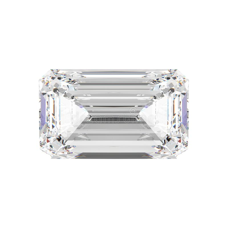 3D diamentu ilustracyjny odosobniony szmaragdowy kamień ilustracja wektor