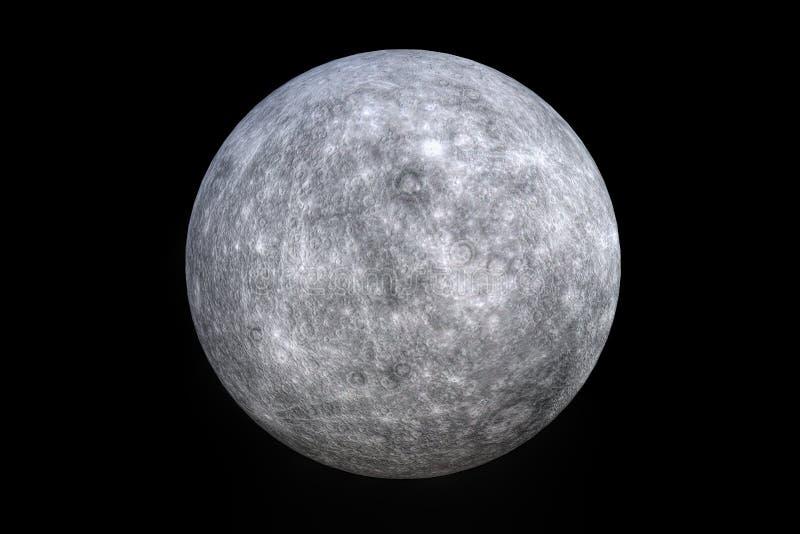 3 D die het teruggeven van de planeet Mercury teruggeven stock illustratie