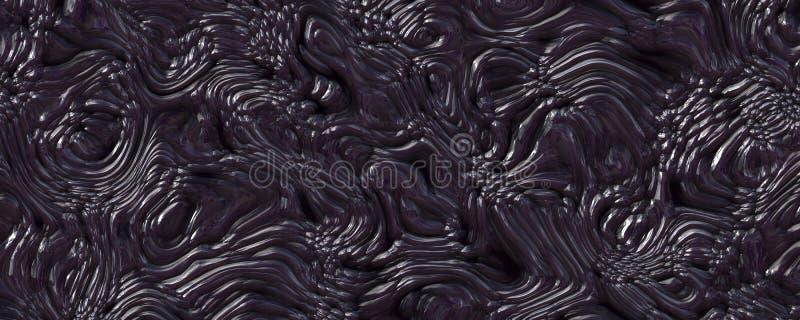 3d illustration alien metallic abstract background vector illustration