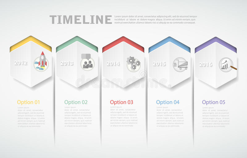 3D digital template Infographic. vector illustration