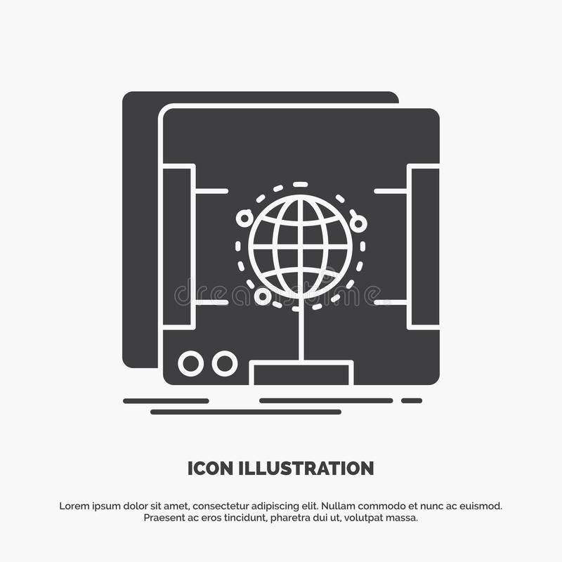 3d, dimensional, holographic, scan, scanner Icon. glyph vector gray symbol for UI and UX, website or mobile application. Vector EPS10 Abstract Template stock illustration