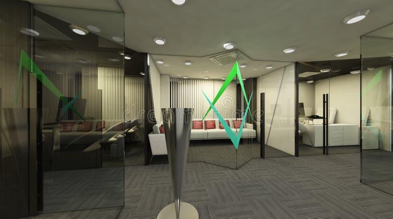 3D Dinningszaal vector illustratie