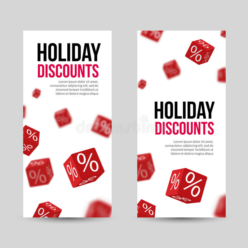 3d Discount Holiday Sale Red Box Banners For Business Designs Stock