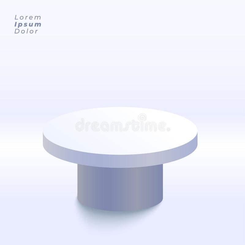 3d display table inside studio background royalty free illustration