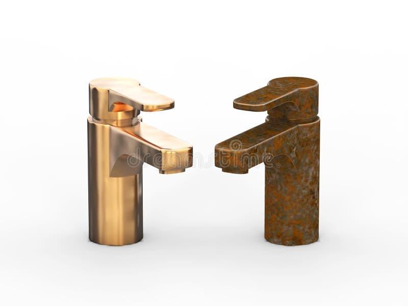 3D diverso ol oxidado roto inadecuado del vintage del ejemplo dos libre illustration