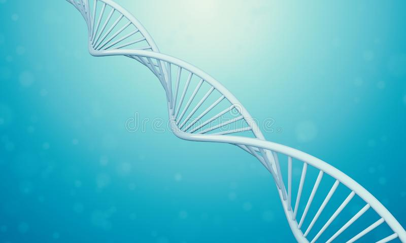 3d Dna in blue liquid royalty free illustration