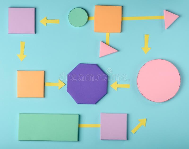3D document blokken en pijlen stock foto's