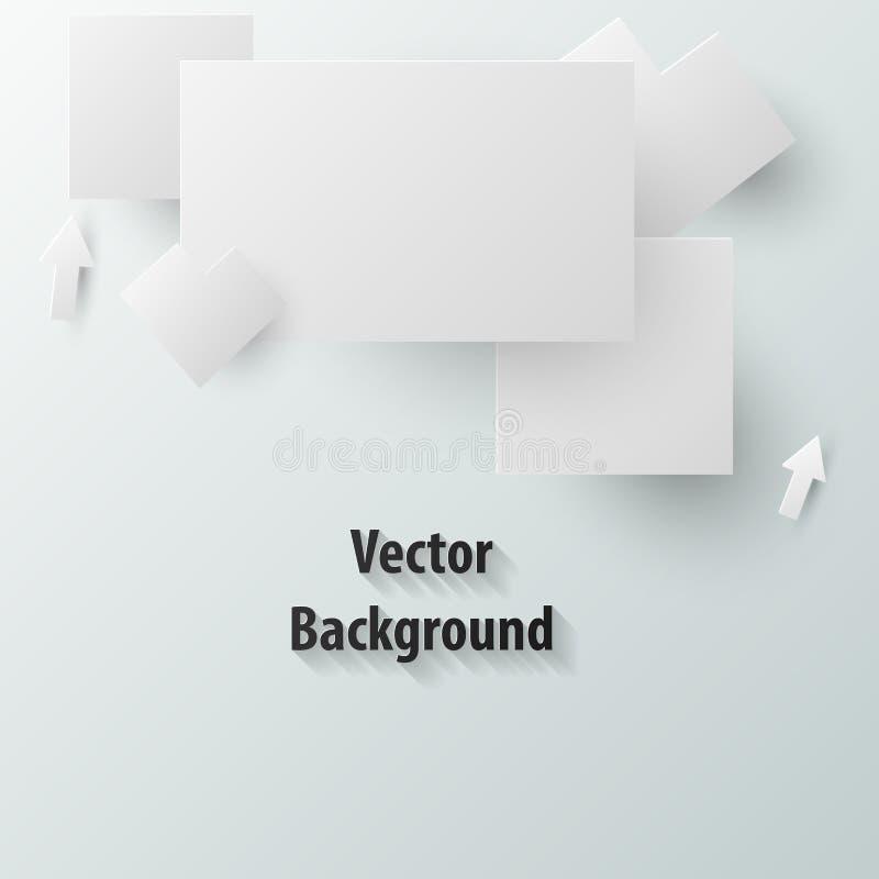 3D document lege Vierkante vorm royalty-vrije illustratie