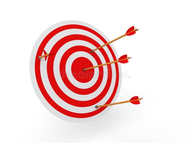 3d doel en pijlen royalty-vrije illustratie