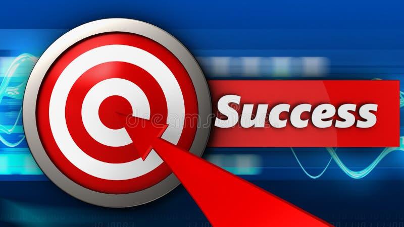 3d doel met succes royalty-vrije illustratie