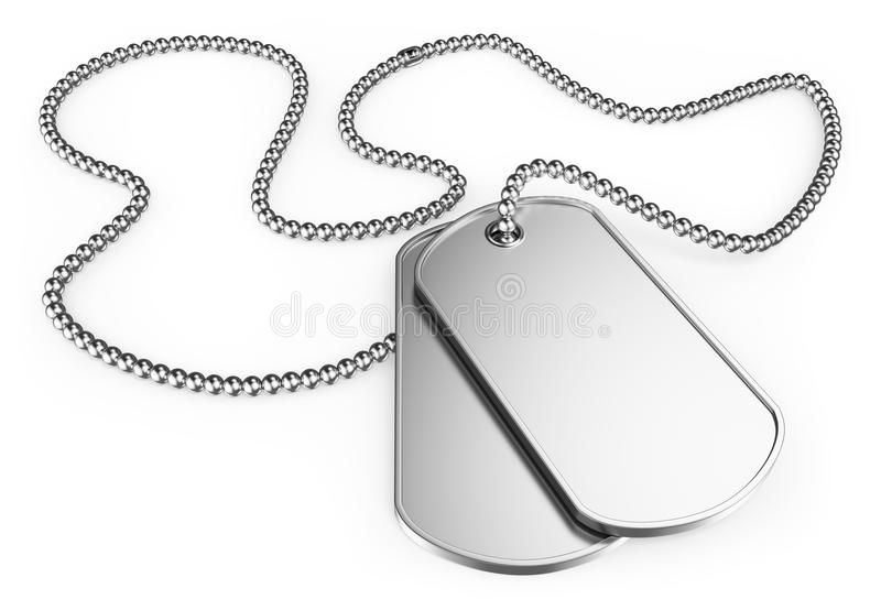 3D Dog tags vector illustration