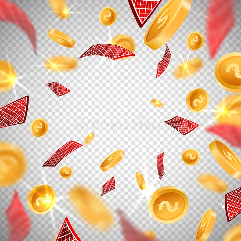 3d dollar gold coins,holdem poker casino cards explosion in realistic style,big win jackpot game casinos concept royalty free illustration