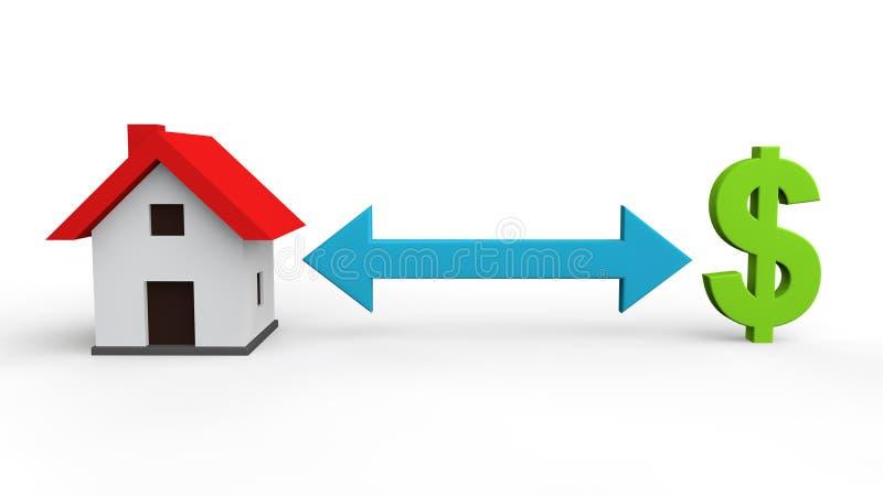 Download 3d Domowy I Dolarowy Symbol Ilustracji - Ilustracja złożonej z pieniądze, konceptualny: 53779797