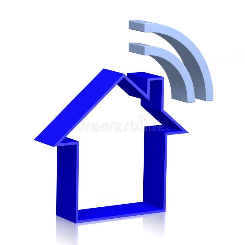 3D domu wifi pojęcie ilustracji