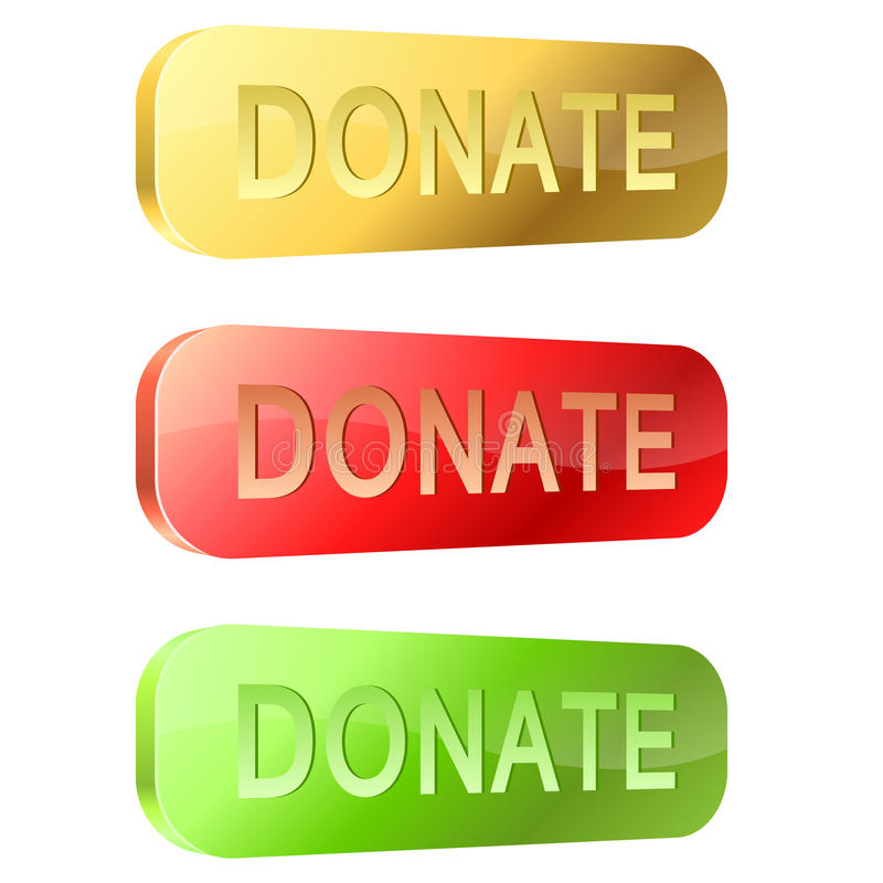 3D donate buttons