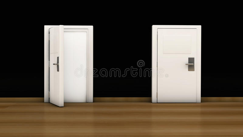 3d Door Open And Close Royalty Free Stock Photography ...