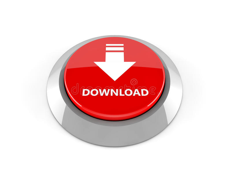 3d download button stock illustration