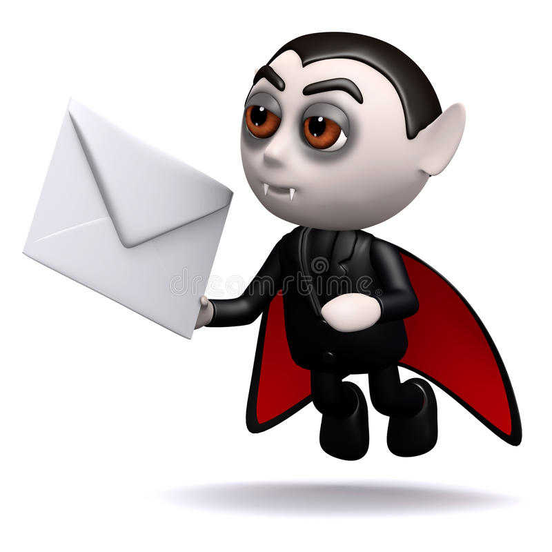 Download 3d Dracula mail stock illustration. Image of mystery - 40282622