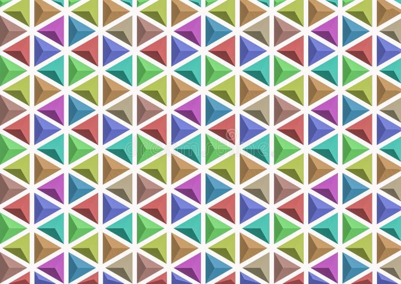 3D driehoek van kleurenvariaties royalty-vrije stock afbeelding