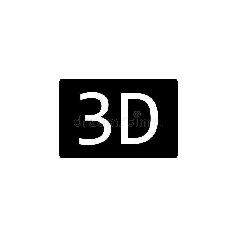3D Druk vectorpictogram - 3d symbool van de kubusdruk 3d vectorpictogram stock illustratie