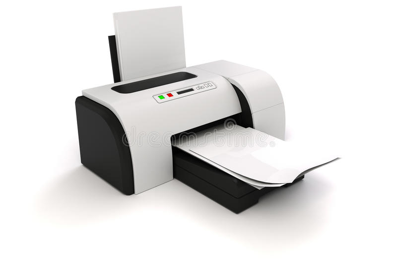 3d drukarka i dokumenty ilustracji