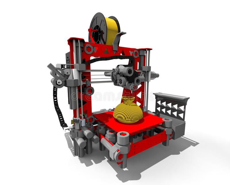 3D drukarki maszyna royalty ilustracja