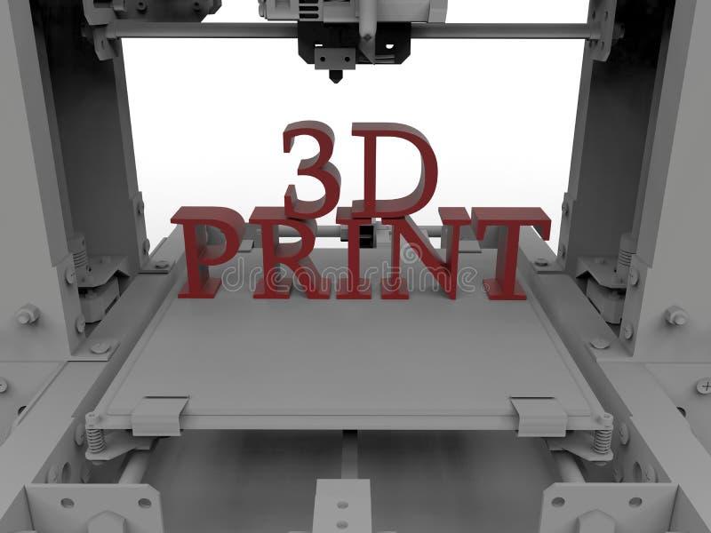 3D drukowy pojęcie royalty ilustracja