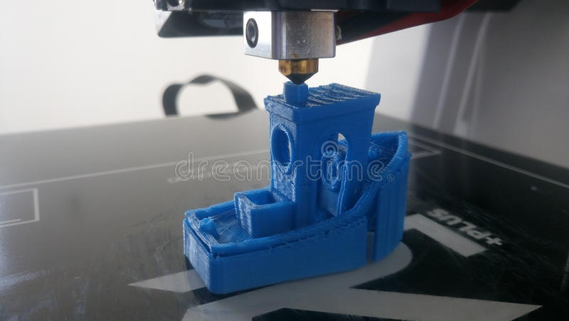 3D drukuje małą łódź obrazy royalty free
