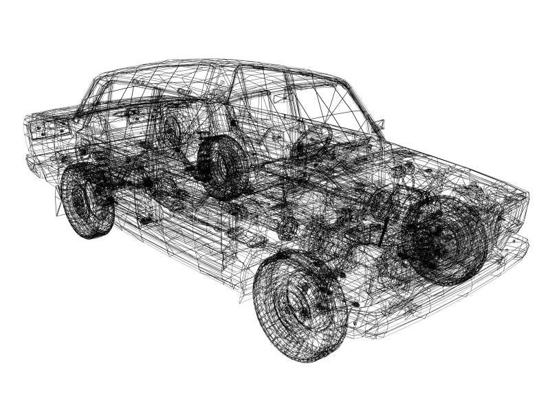 3d 3ds汽车做最大设计 向量例证